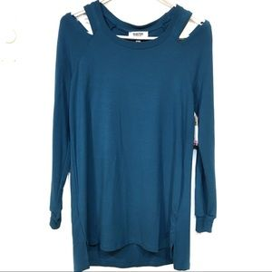 Kenneth Cole Reaction NWT Lyons Blue tunic small